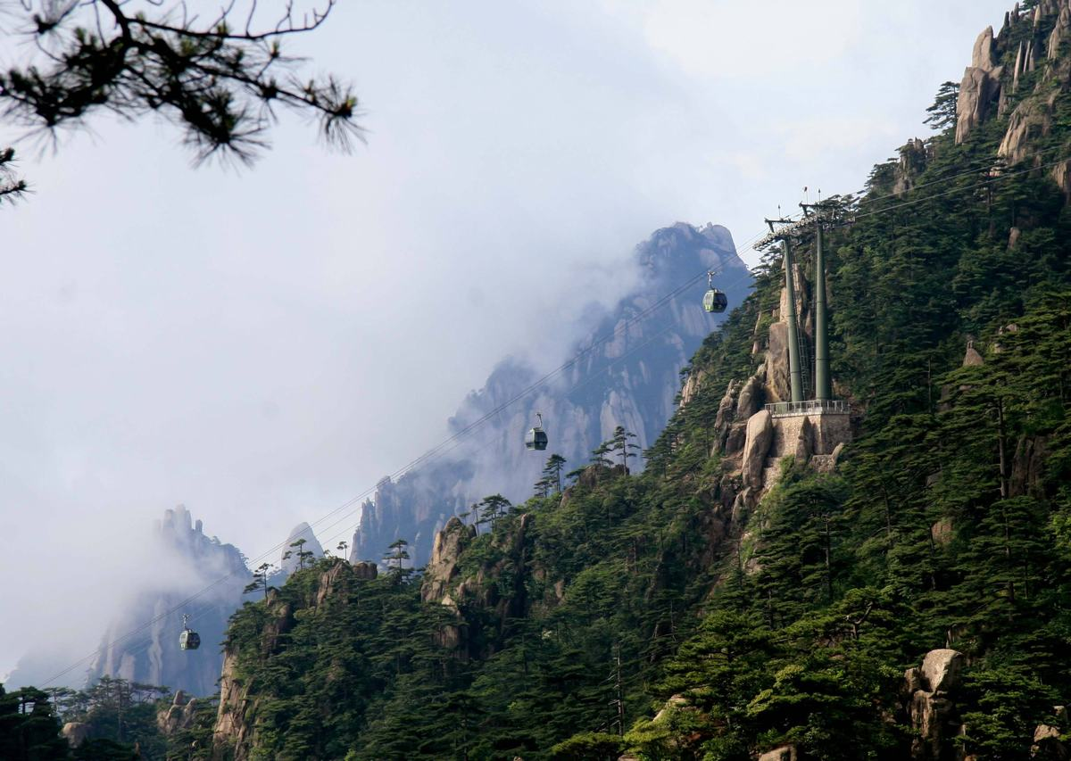 Cable Cars in Mt. Huangshan