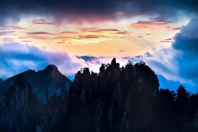 Huangshan Mountain at Dusk