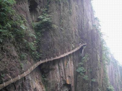 Paths in Mount Huangshan